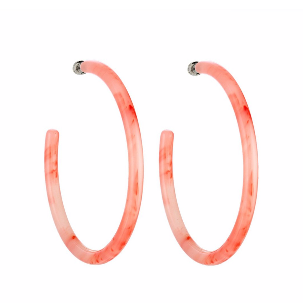 Large Bright Pink Hoops