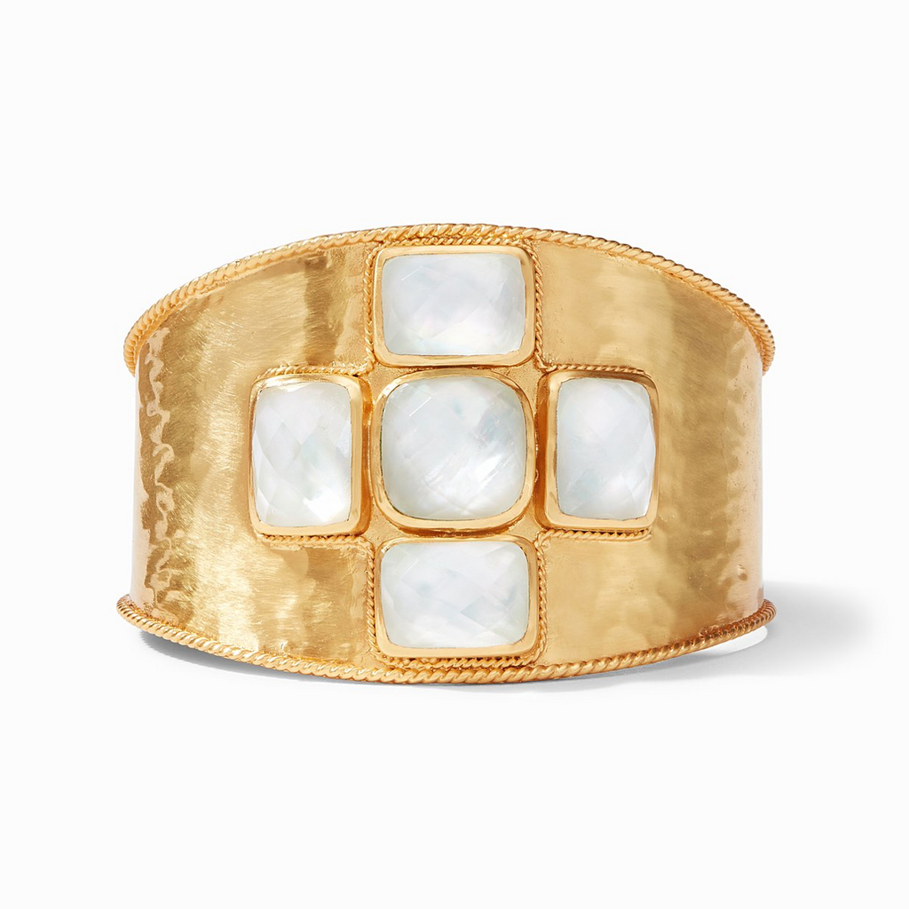 Julie Vos Savoy Cuff, Iridescent Clear Crystal