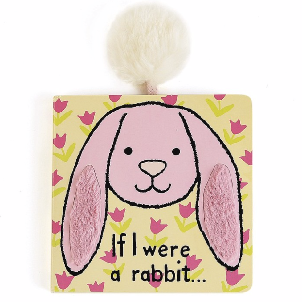 "Jellycat ""If I Were A Rabbit"" Book, Pink"