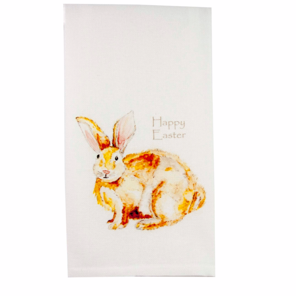 Easter Bunny Cotton Dishtowel