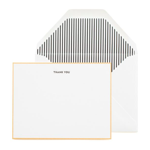 Sugar Paper Classic Black Thank You Notecard Set