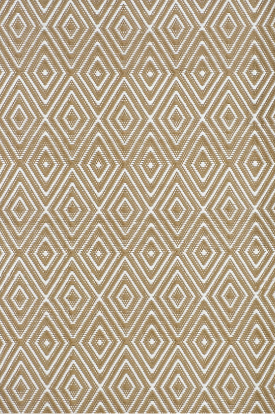 Dash & Albert Diamond Khaki & White Indoor/Outdoor Rug
