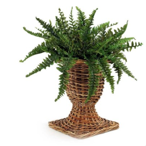 French Country Wicker Urn