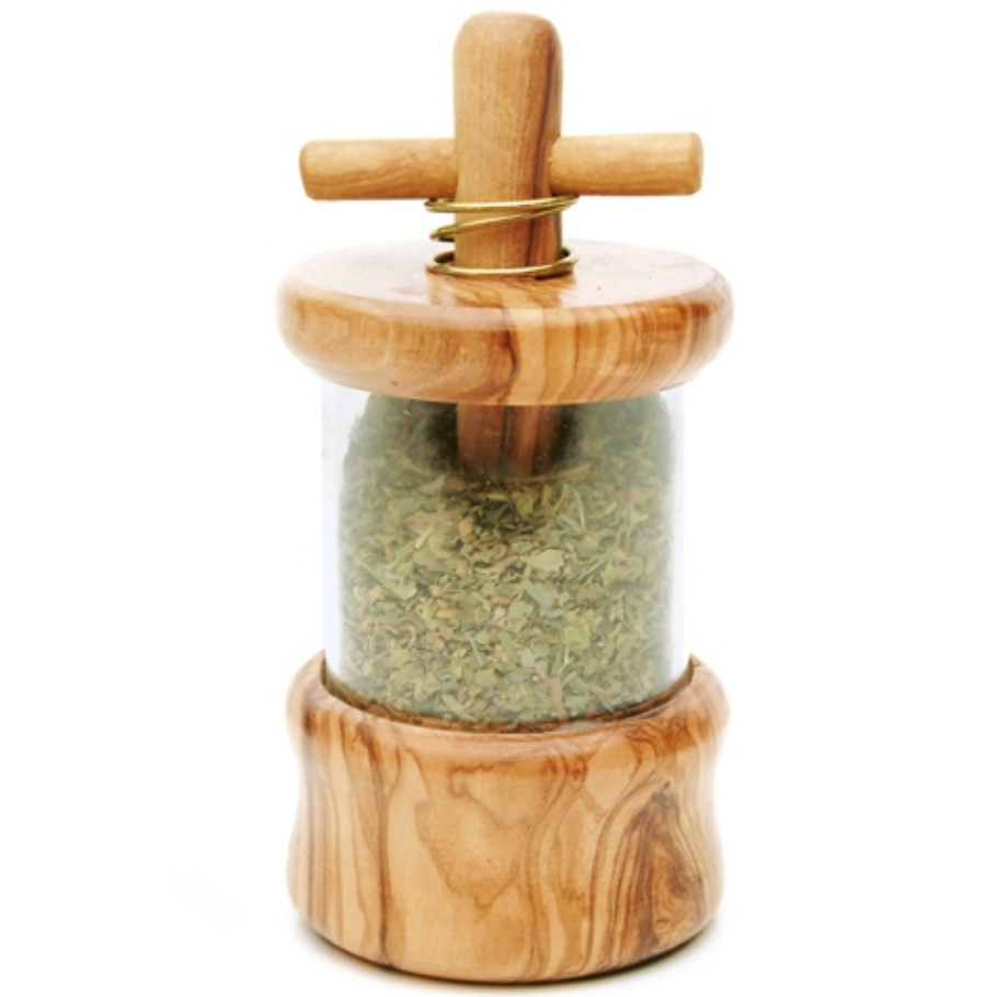 Olive Wood Herb Mill