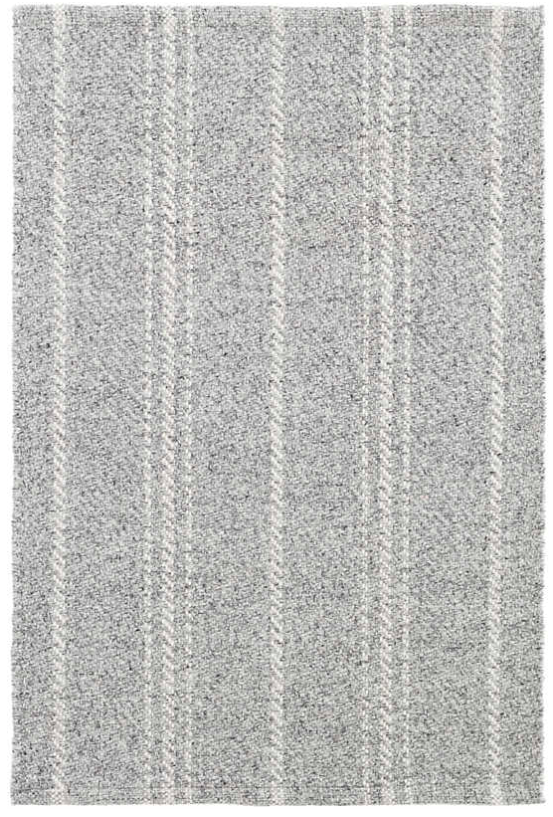 Dash & Albert Melange Stripe Grey/ Ivory Indoor/ Outdoor Rug