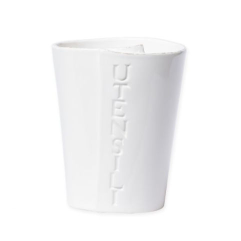 VIETRI Lastra White Utensil Holder