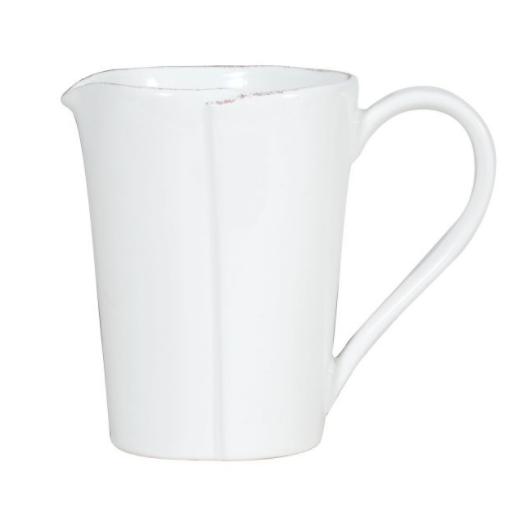 VIETRI Lastra White Pitcher