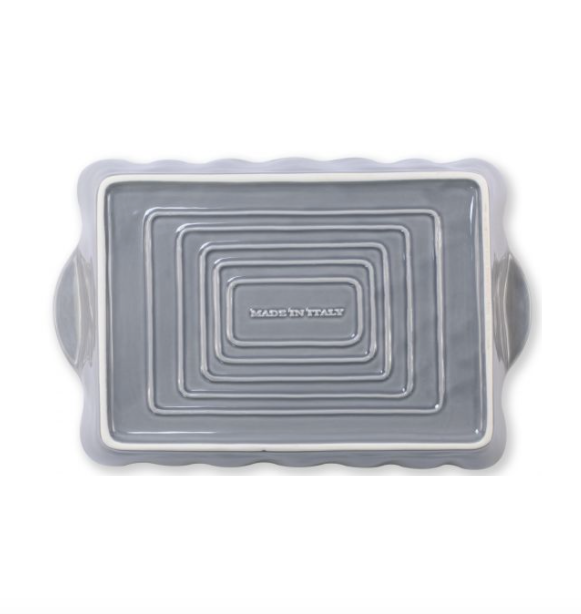 Gray Rectangular Italian Baker, Large