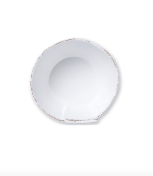 VIETRI Lastra Melamine White Stacking Cereal Bowl