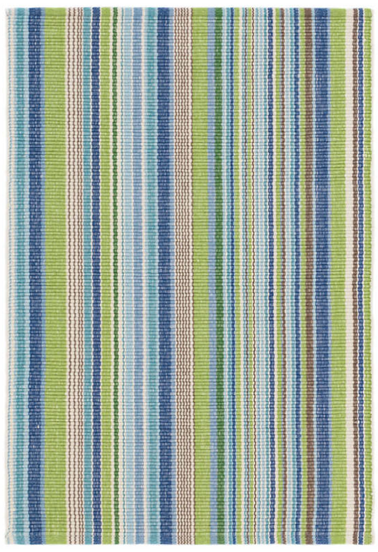 Dash & Albert Fisher Ticking Woven Cotton Rug