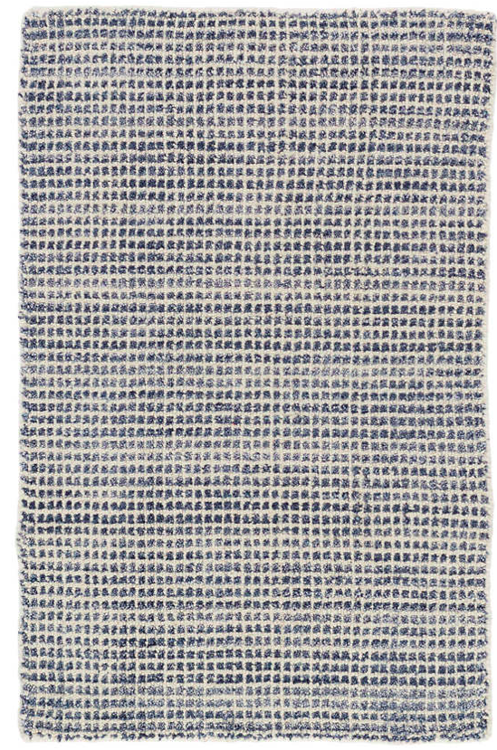 Dash & Albert Homer Blue Loom Knotted Wool/ Viscose Rug