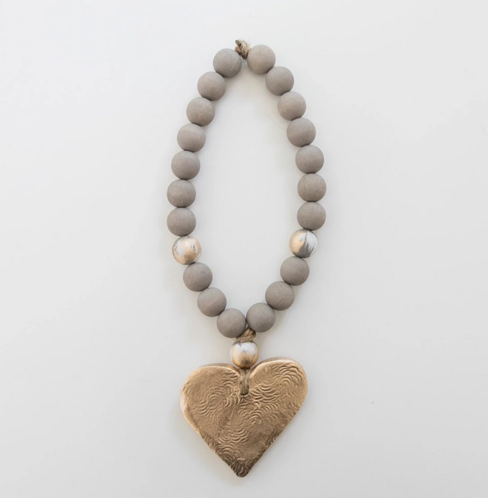 Handmade Short Gray Wood Blessing Beads