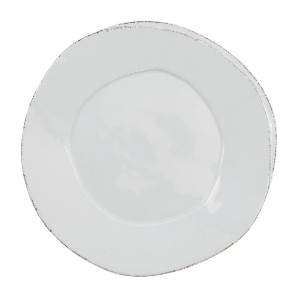 VIETRI Lastra European Dinner Plate, Light Gray