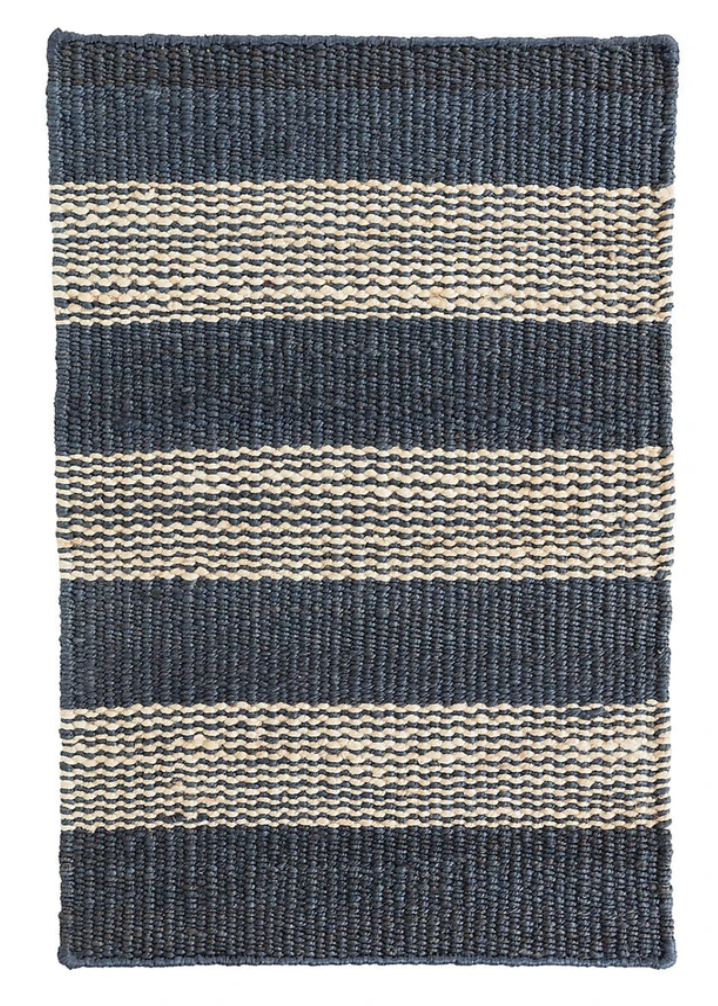 Dash & Albert Denim Tick Woven Jute Rug