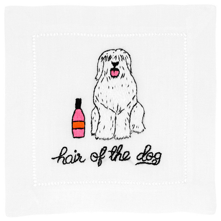 """Hair of the Dog"" Cocktail Napkin Set - Waiting On Martha - 1"