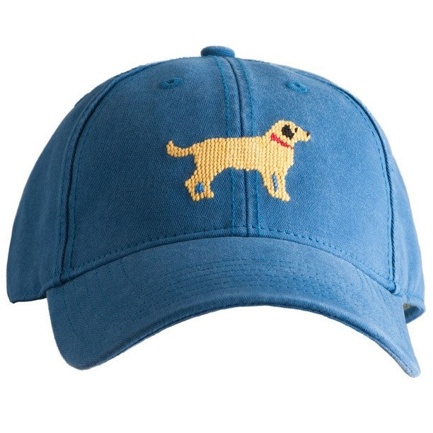 Yellow Lab Needlepoint Hat