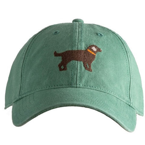 Chocolate Lab Needlepoint Hat - Waiting On Martha - 1