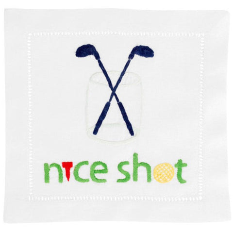 """Nice Shot"" Cocktail Napkin Set - Waiting On Martha - 1"
