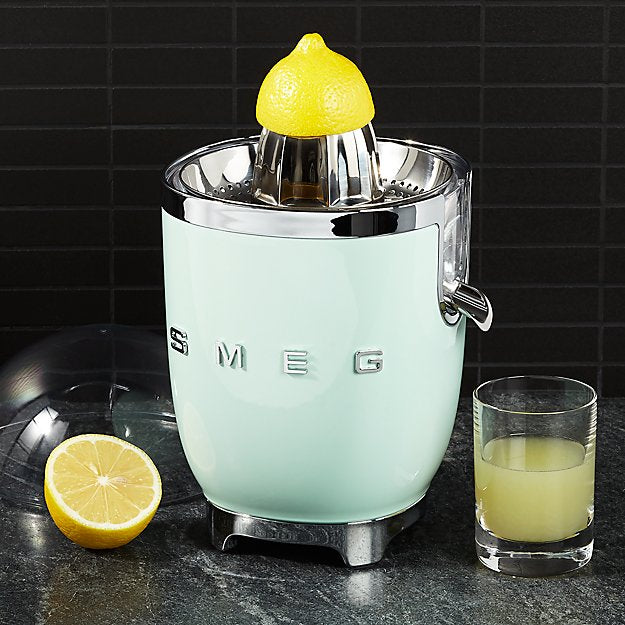 Smeg Citrus Juicer, Pastel Green