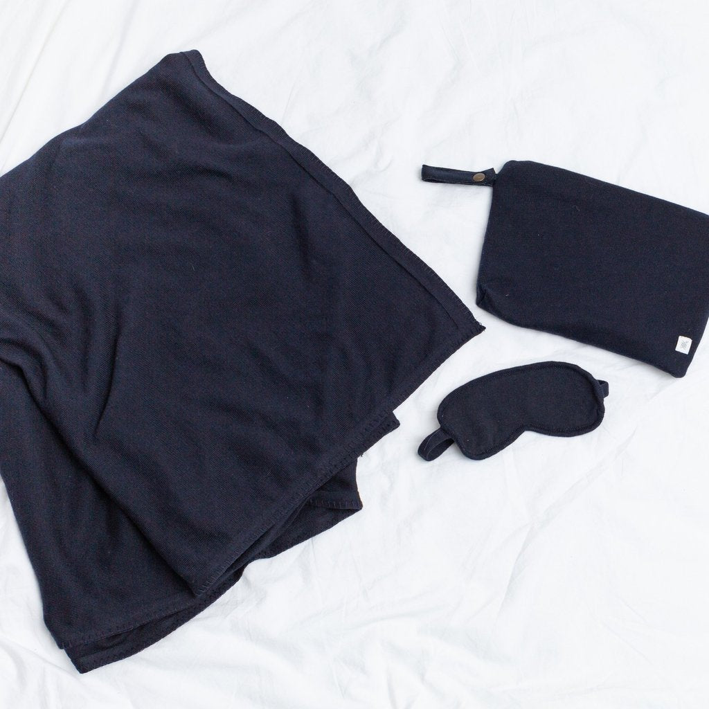 Organic Cotton Travel Set, Navy