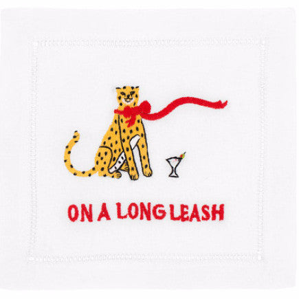 """On a Long Leash"" Cocktail Napkin Set - Waiting On Martha"