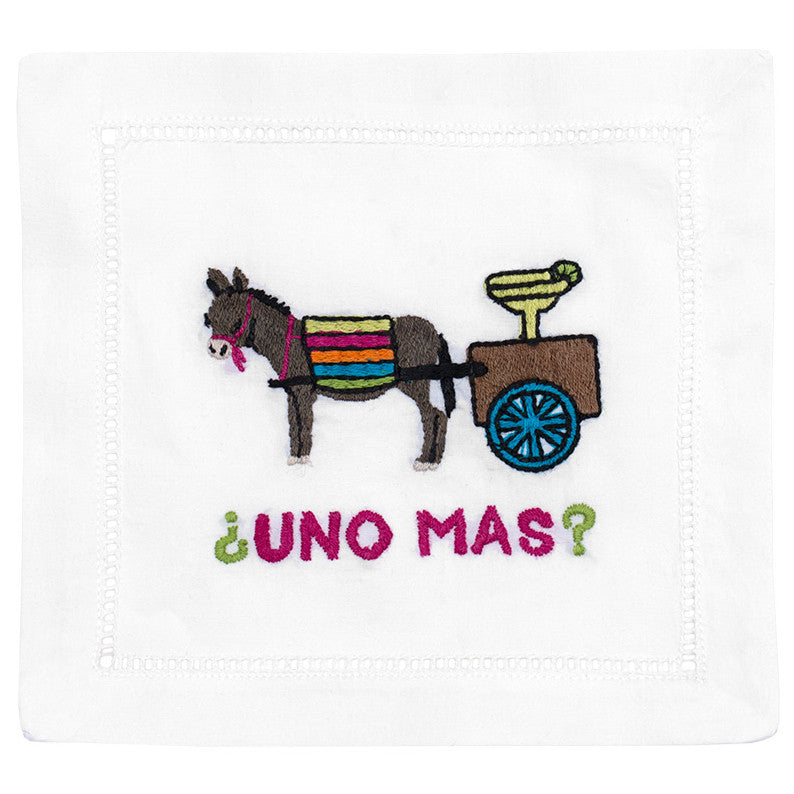 """Uno Mas?"" Cocktail Napkin Set - Waiting On Martha"