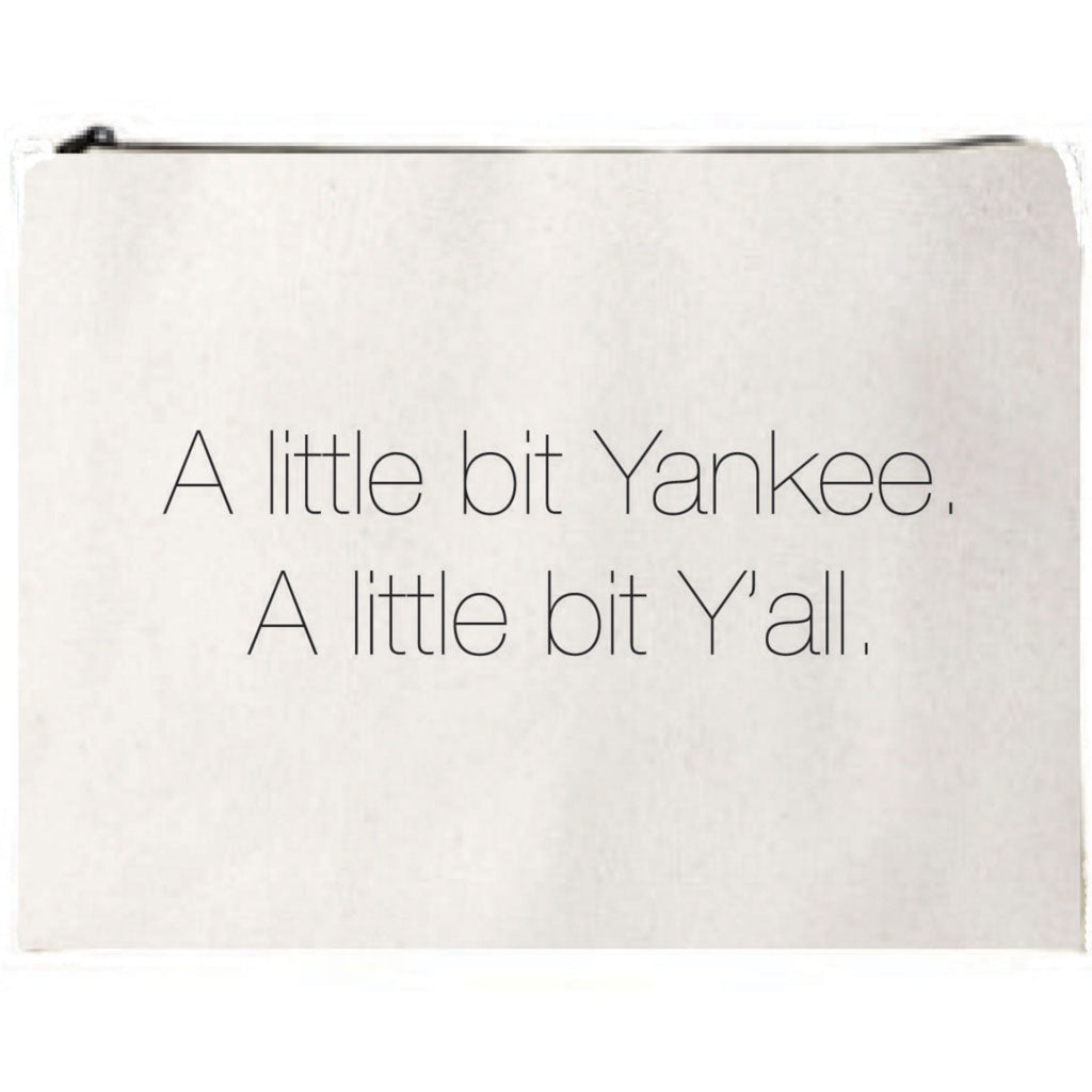 Yankee & Y'all Canvas Pouch
