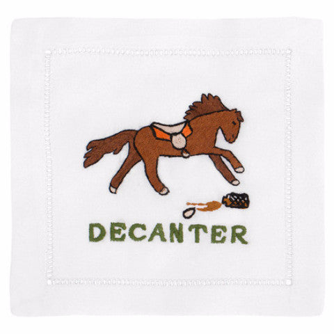"""Decanter Horse"" Cocktail Napkin Set - Waiting On Martha"