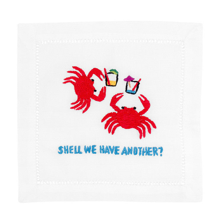 """Shell We Have Another?"" Cocktail Napkin Set - Waiting On Martha"