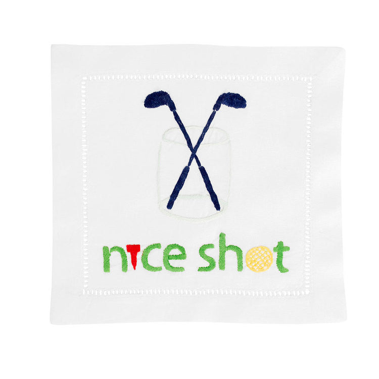 """Nice Shot"" Cocktail Napkin Set - Waiting On Martha - 2"