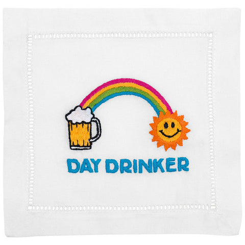 """Day Drinker"" Cocktail Napkin Set - Waiting On Martha"