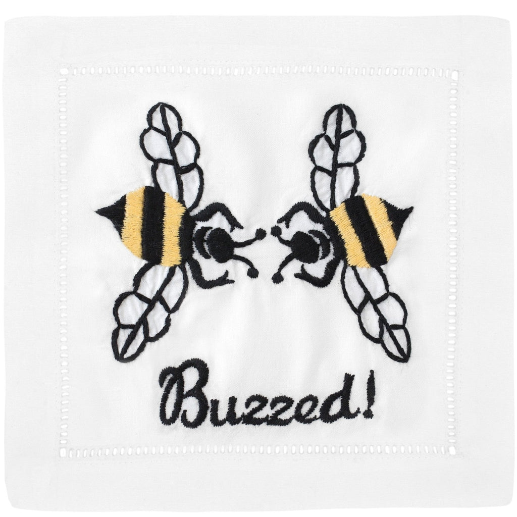 """Buzzed"" Cocktail Napkin Set - Waiting On Martha"