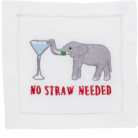 """No Straw Needed"" Cocktail Napkin Set - Waiting On Martha"