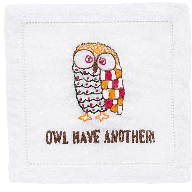 """Owl Have Another"" Cocktail Napkin Set - Waiting On Martha"