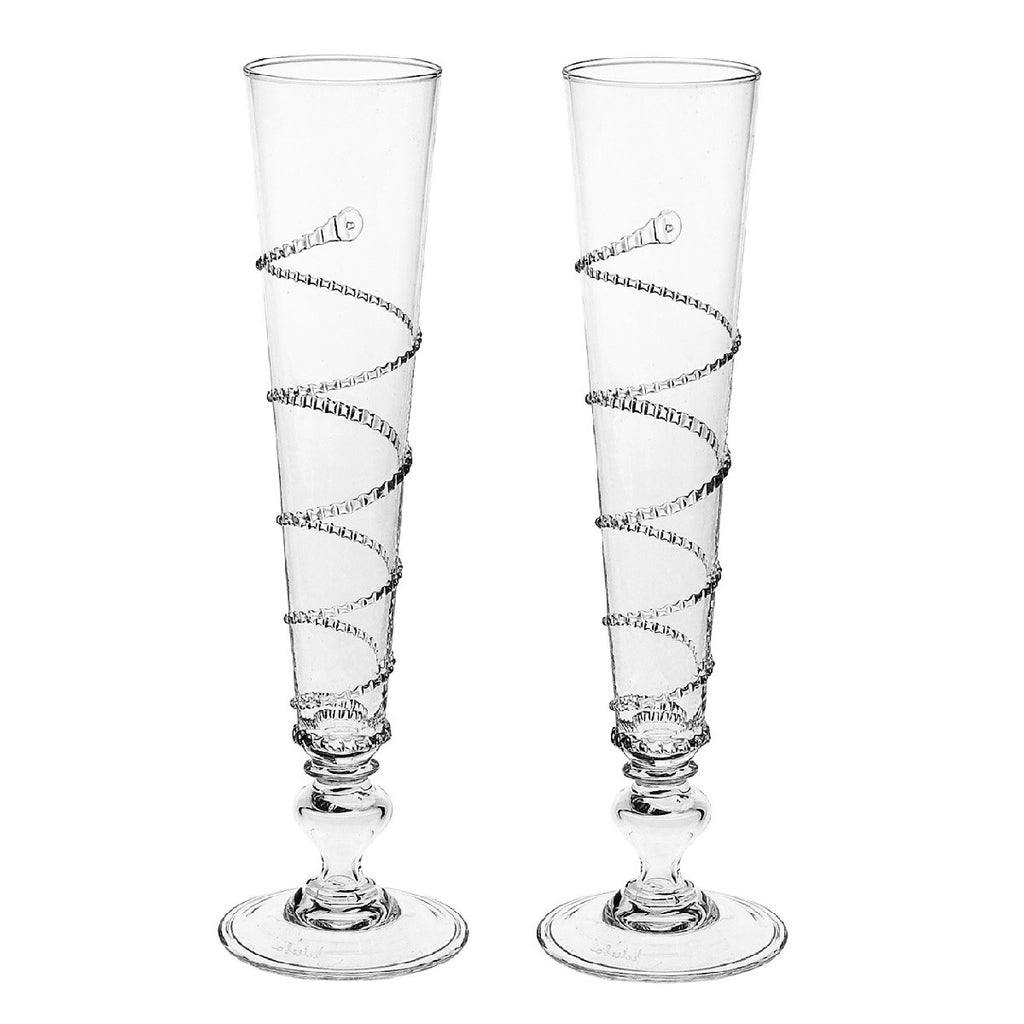 Juliska Amalia Flutes, Set of 2
