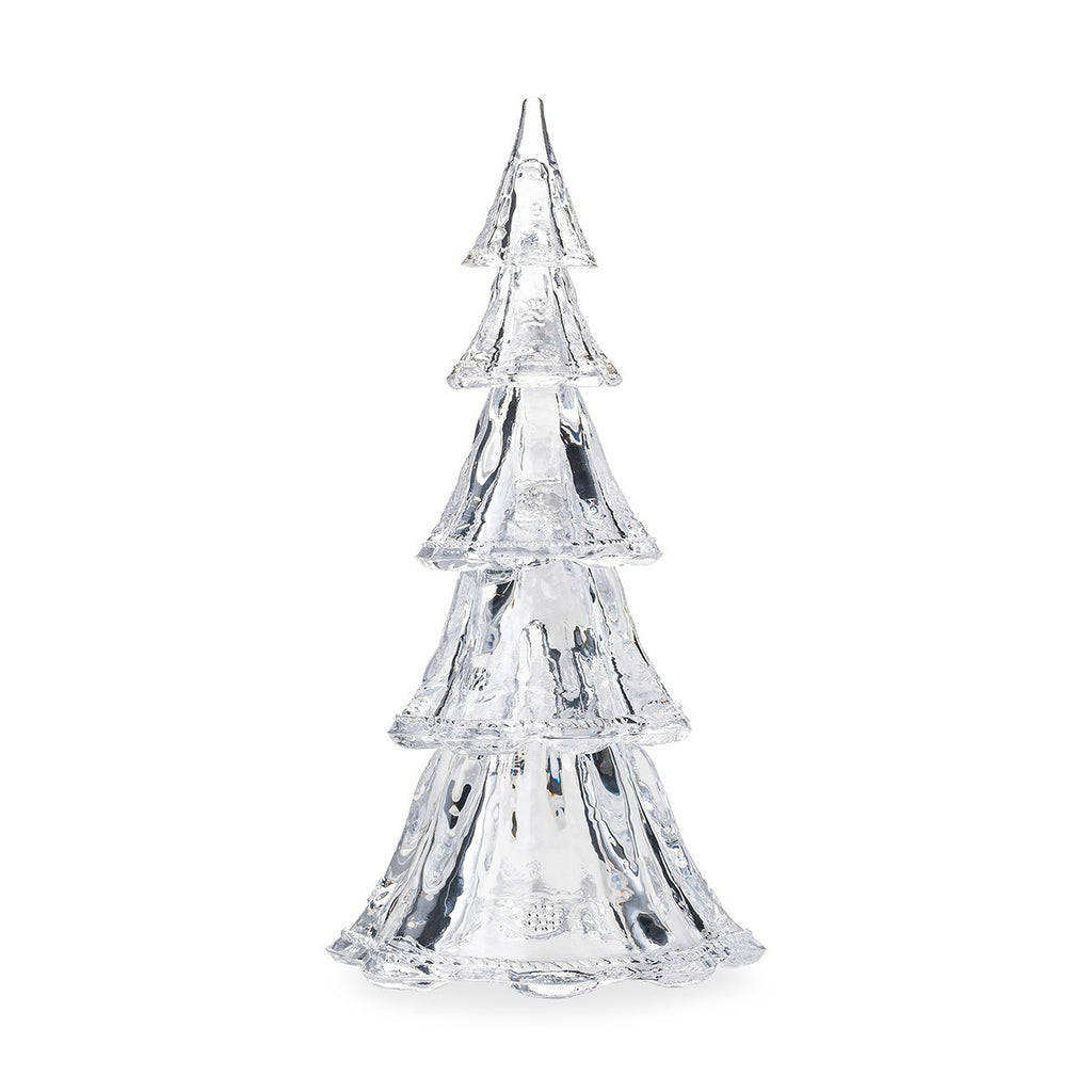 "Berry & Thread 16"" Stackable Glass Tree Set of 5, Clear"