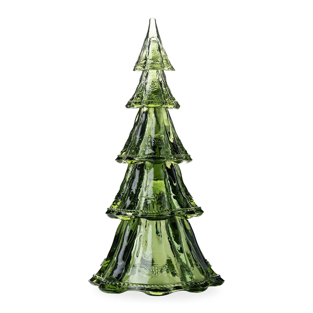 "Berry & Thread 16"" Stackable Glass Tree Set of 5, Evergreen"