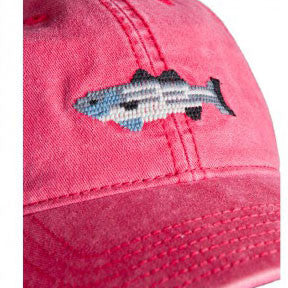 Needlepoint Striped Bass Hat - Waiting On Martha - 2