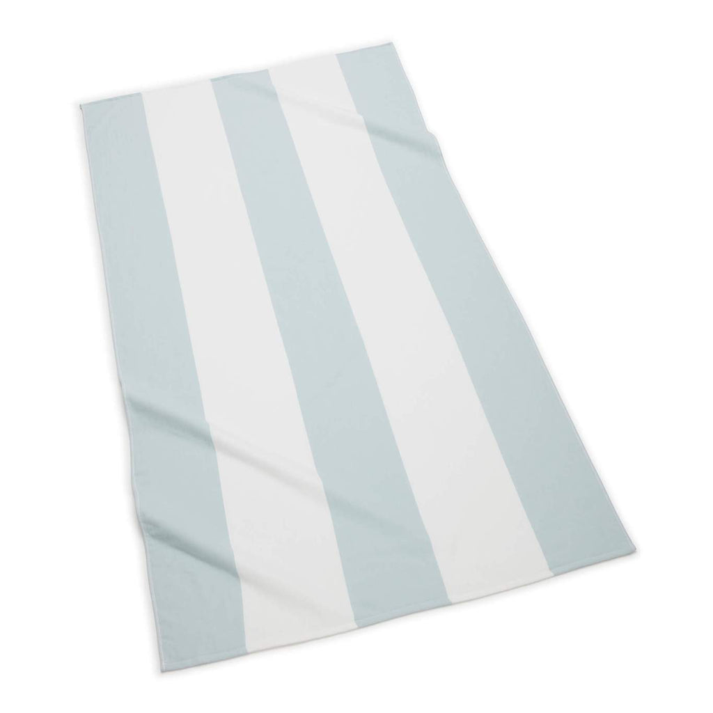Block Stripe Beach Towel, Sea Glass