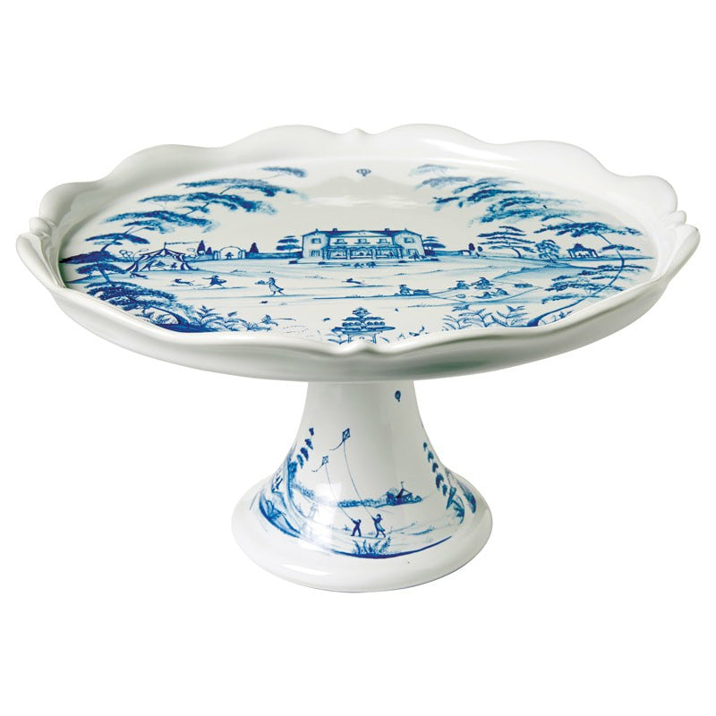 Juliska Country Estate Delft Blue Cake Stand Fete
