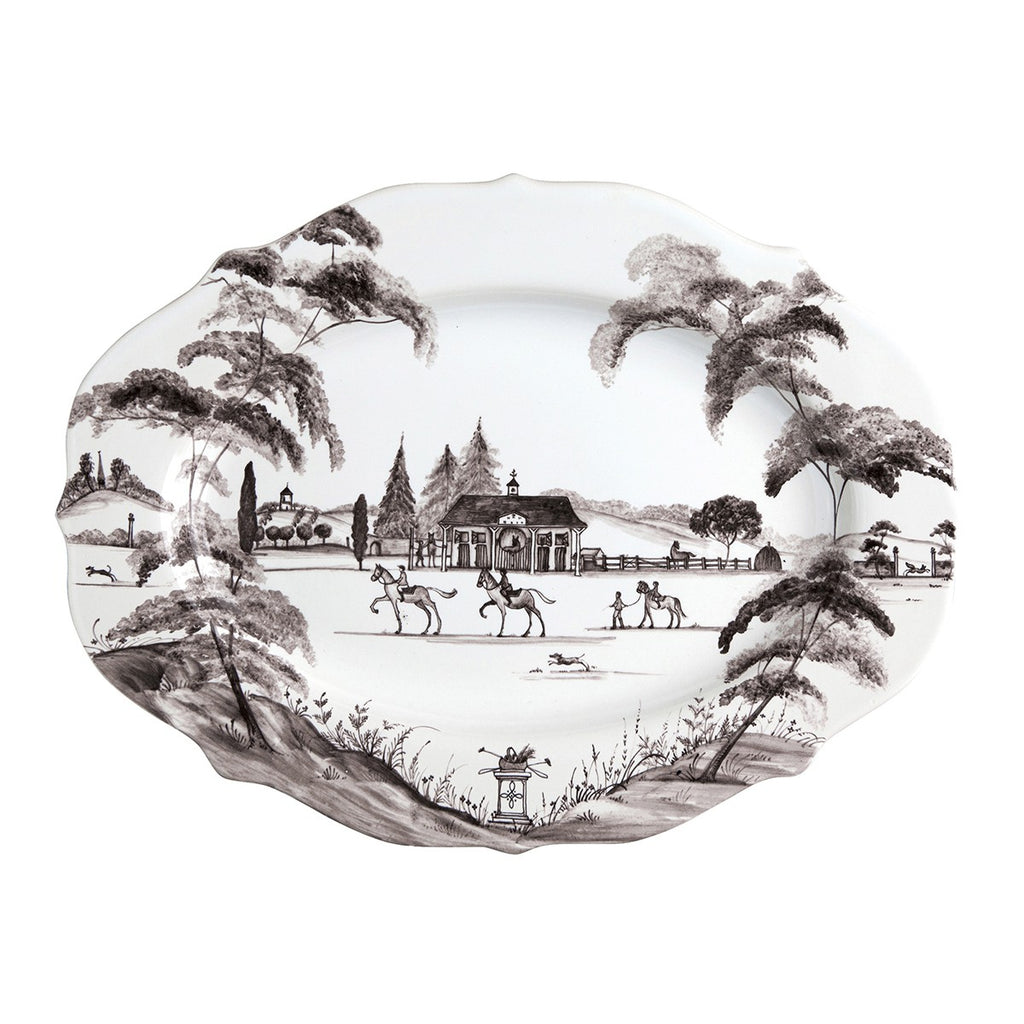 "Juliska Country Estate Flint 15"" Serving Platter Stable"