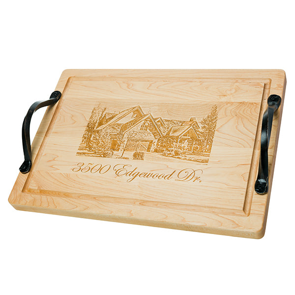 Large Personalized Rectangle Maple Home Board