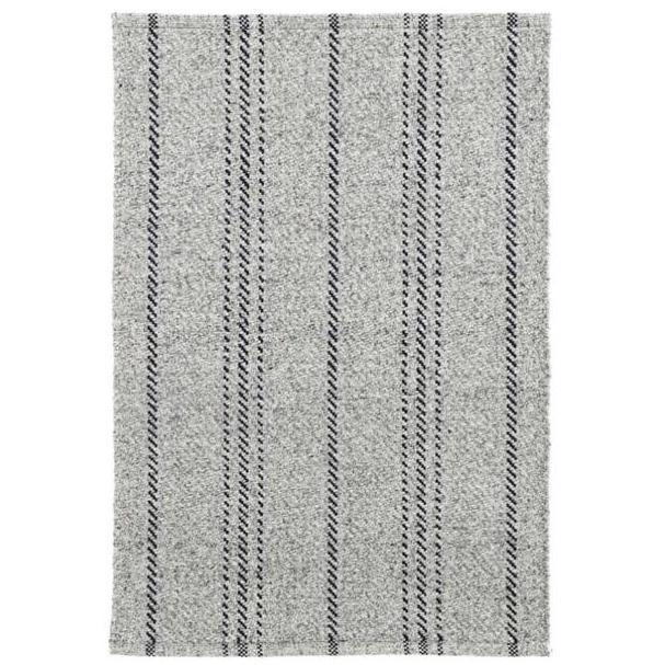 Dash & Albert Melange Stripe Grey/ Black Indoor/ Outdoor Rug