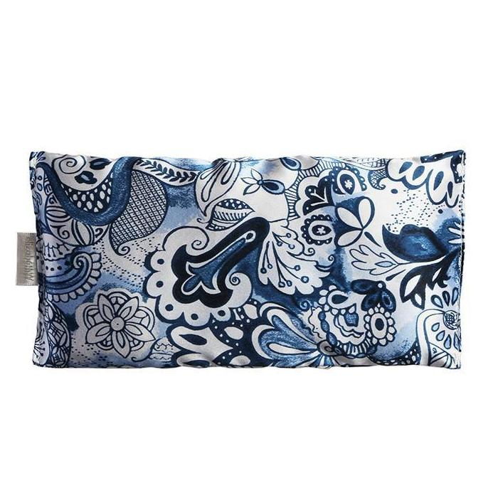 Blue & White Silk Eye Pillow