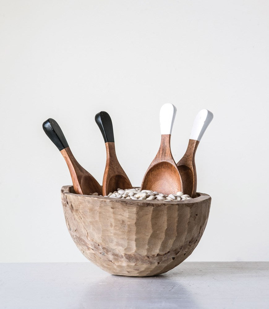 Hand Carved Wood Salad Servers