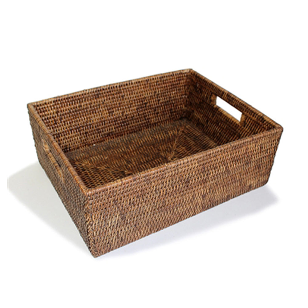 Rattan Everything Basket, Antique Brown
