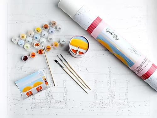 Beach Bliss Paint By Number Kit