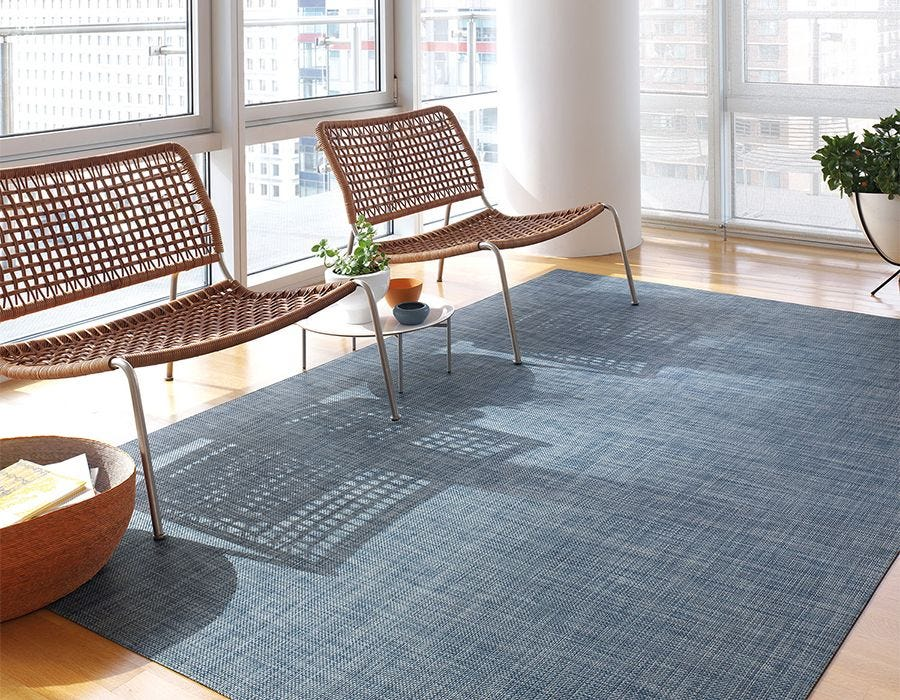 Chilewich Denim Basketweave Floor Mat