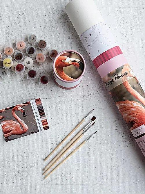 Franny Flamingo Paint By Number Kit