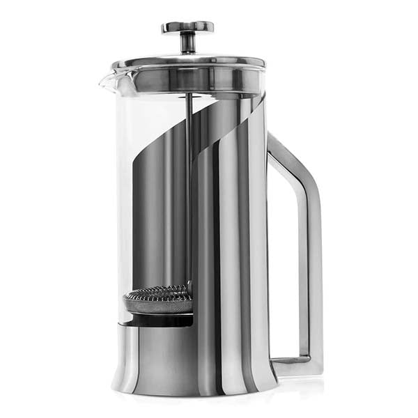 French Press Coffee Maker with Glass 34oz, Stainless Steel